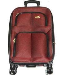 maleta de lona s1 mediana 24pulgadas- vinotinto