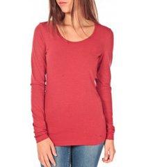 t-shirt lange mouw tom tailor lara stretch longsleeve rouge