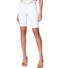 women's paige jax denim bermuda shorts, size 26 - white