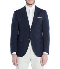 men's eleventy trim fit wool blazer, size 58 r eu - blue