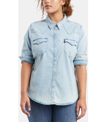 levi's trendy plus size western shirt