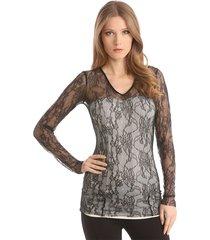 lara knit top - guess - shirts en tops - zwart