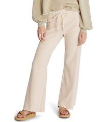 women's wildfox jude tie dye pants, size large - beige