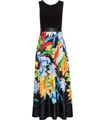 abito lungo a fiori (nero) - bodyflirt boutique