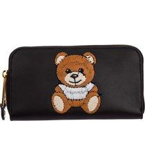 portafoglio portamonete donna in pelle bifold teddy bear