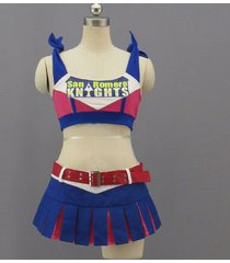 lollipop chainsaw juliet starling blue cosplay costume women sexy outfit