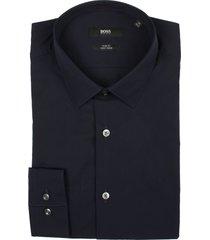 hugo boss overhemd isko donkerblauw sf 50413741/404