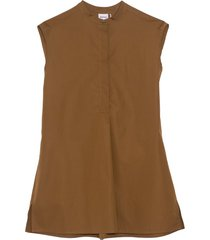 short sleeve top in tobacco