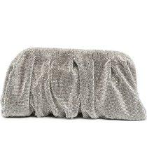benedetta bruzziches crystal embellished clutch bag - white
