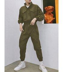 monos de bolsillo grandes retro de estilo japonés para hombres mono