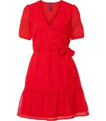 abito con maniche a sbuffo (rosso) - rainbow