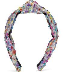 metallic confetti shimmer yarn knotted headband