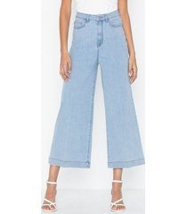 selected femme slfcarry hw crop wide light blu je bootcut & flare