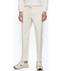 boss men's cotton-poplin slim-fit pants