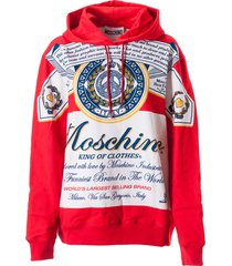 moschino king of clothes all-over hoodie