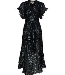robe grace jurk knielengte blauw ba&sh
