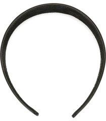 jennifer behr smooth leather headband - black