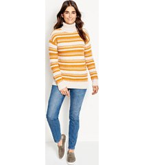 merino striped tunic sweater