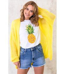 oversized knitted vest bright yellow