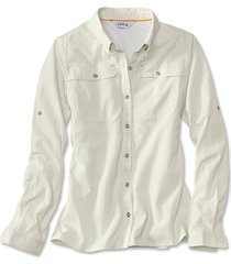 women's open air casting shirt / woman's open air casting shirt, white, xs