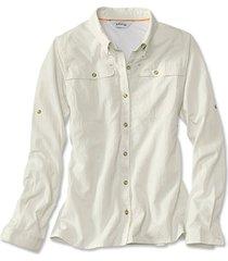 women's open air casting shirt / woman's open air casting shirt, white, xs