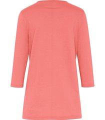 shirt met 3/4-mouwen van green cotton oranje