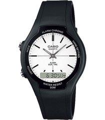 reloj casio aw_90h_7ev negro resina hombre