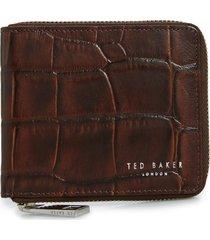 men's ted baker london shoppa leather zip wallet -