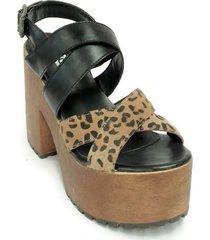 sandalia animal print picas shoes