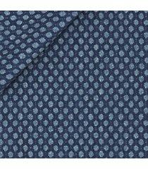 giacca da uomo su misura, tessitura di quaregna, blu macro dots, quattro stagioni   lanieri