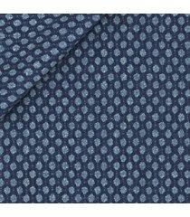 giacca da uomo su misura, tessitura di quaregna, blu macro dots, quattro stagioni