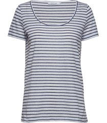 nobel tee stripe 3173 t-shirts & tops short-sleeved blå samsøe samsøe