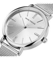 reloj mini focus mf0036l-2 mujer plata
