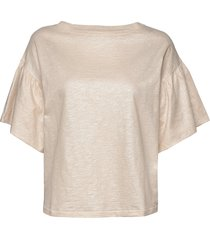 day again t-shirts & tops short-sleeved crème day birger et mikkelsen