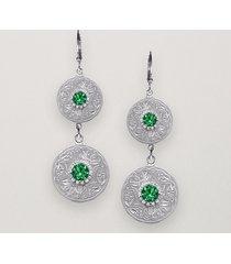celtic warrior earrings green