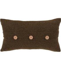 "saro lifestyle cardigan design decorative throw pillow, 12"" x 20"""