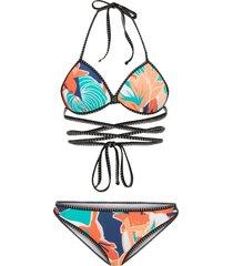 bikini push-up (set 2 pezzi) (arancione) - rainbow