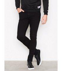 nudie jeans skinny lin black black jeans black