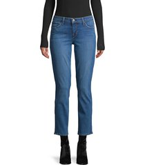 l'agence women's mid-rise ankle jeans - blue - size 24 (0)