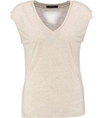 supertrash zachte polyester linnen top sand