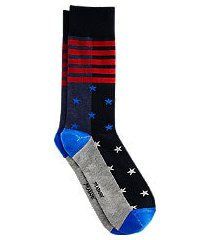 jos. a. bank stars & stripes mid-calf socks, 1-pair