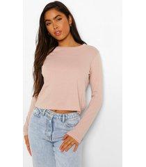 oversized shirt met lange mouwen, blush