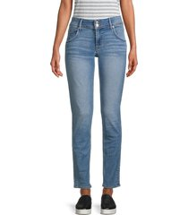 hudson women's collin mid-rise skinny jeans - railay - size 31 (10)