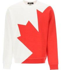 dsquared2 d2 leaf sweatshirt with back print