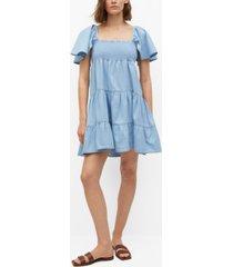 mango women's frill cotton dress