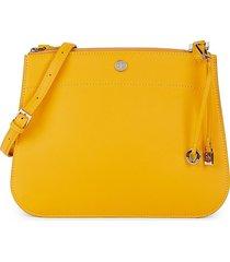 loro piana women's calfskin leather crossbody bag - aqua