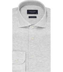 profuomo knitted shirt melange slim fit grijs