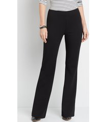 maurices womens high rise black stretch crepe flare pants