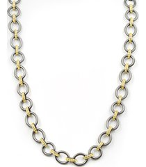 women's freida rothman signature two-tone link necklace