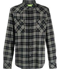 diesel green label flannel western shirt - black